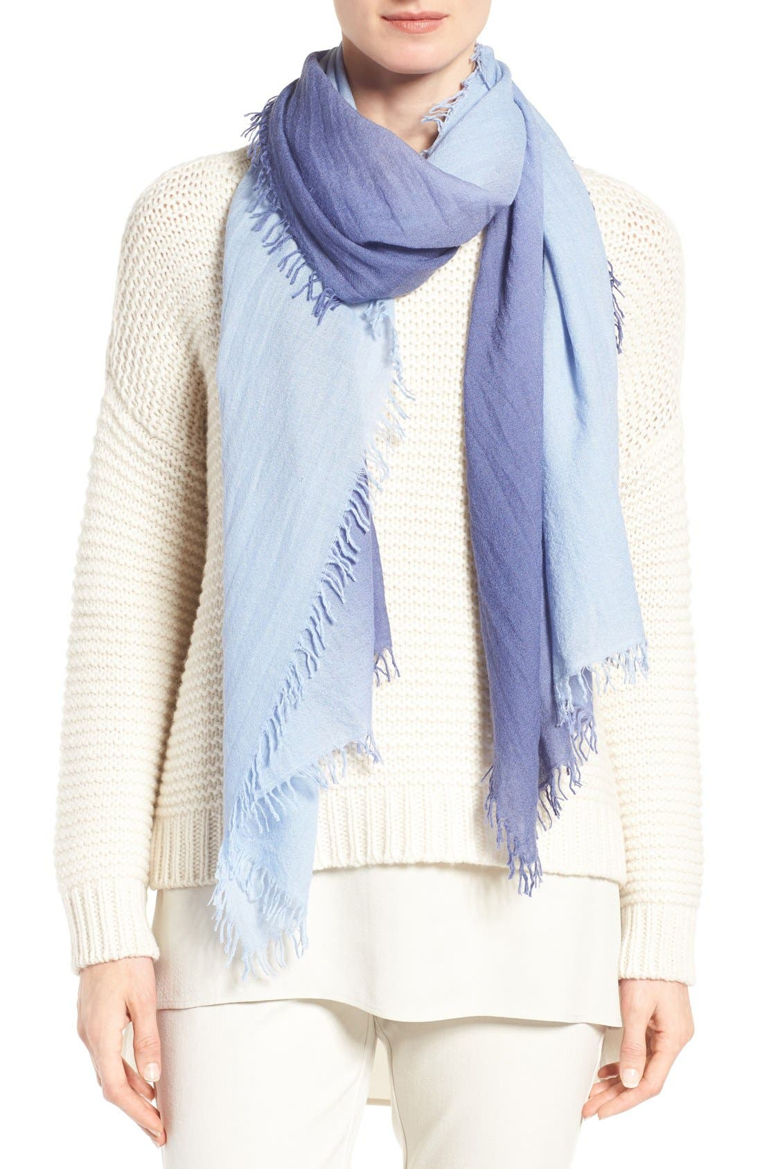 Ombré Scarf,                         Main,                         color, Periwinkle