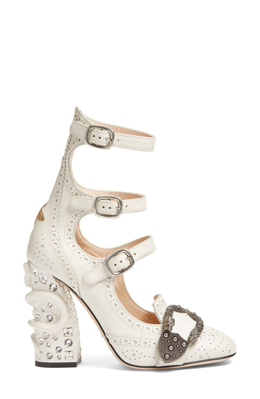 Alternate Image 4  - Gucci Queercore Embellished Gladiator Pump (Women)
