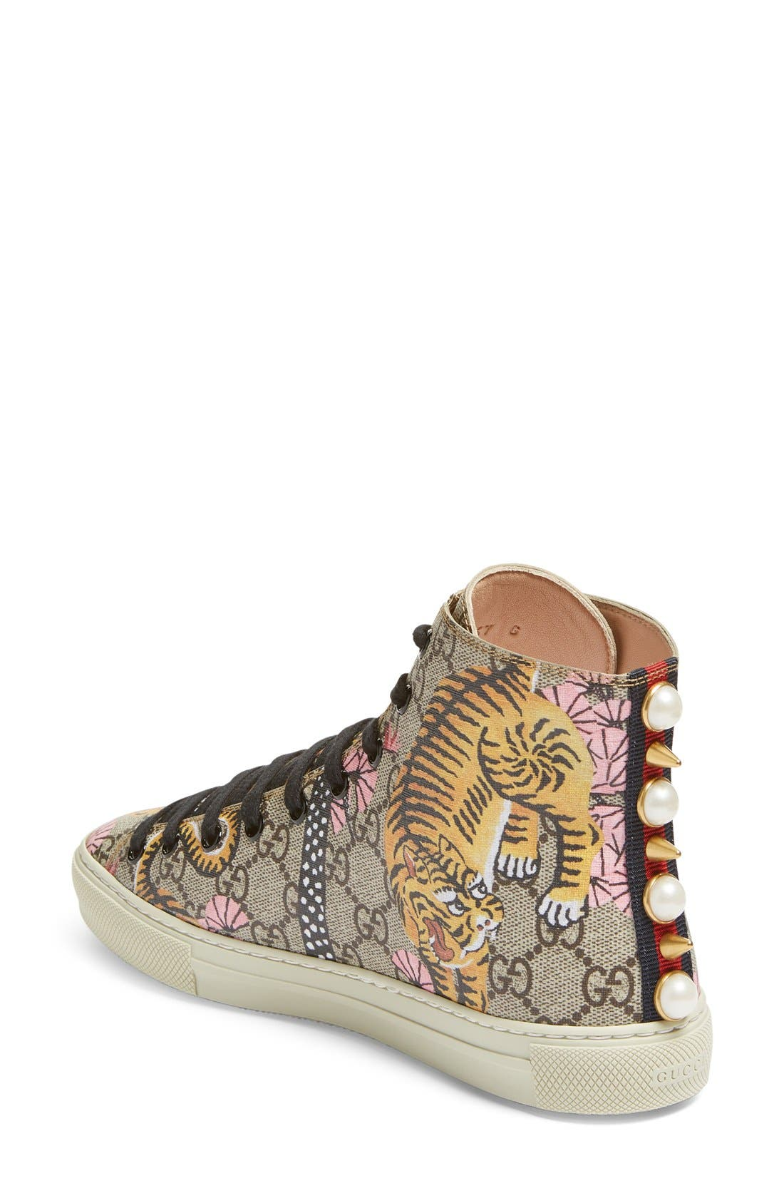 Alternate Image 2  - Gucci Major Tiger High Top Sneaker (Women)