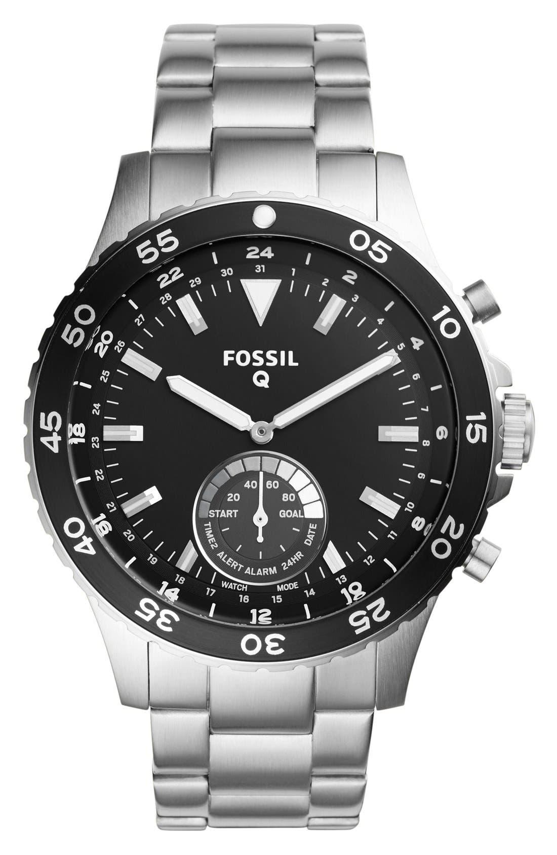 Crewmaster Smart Bracelet Watch, 46mm,                         Main,                         color, Silver/ Black