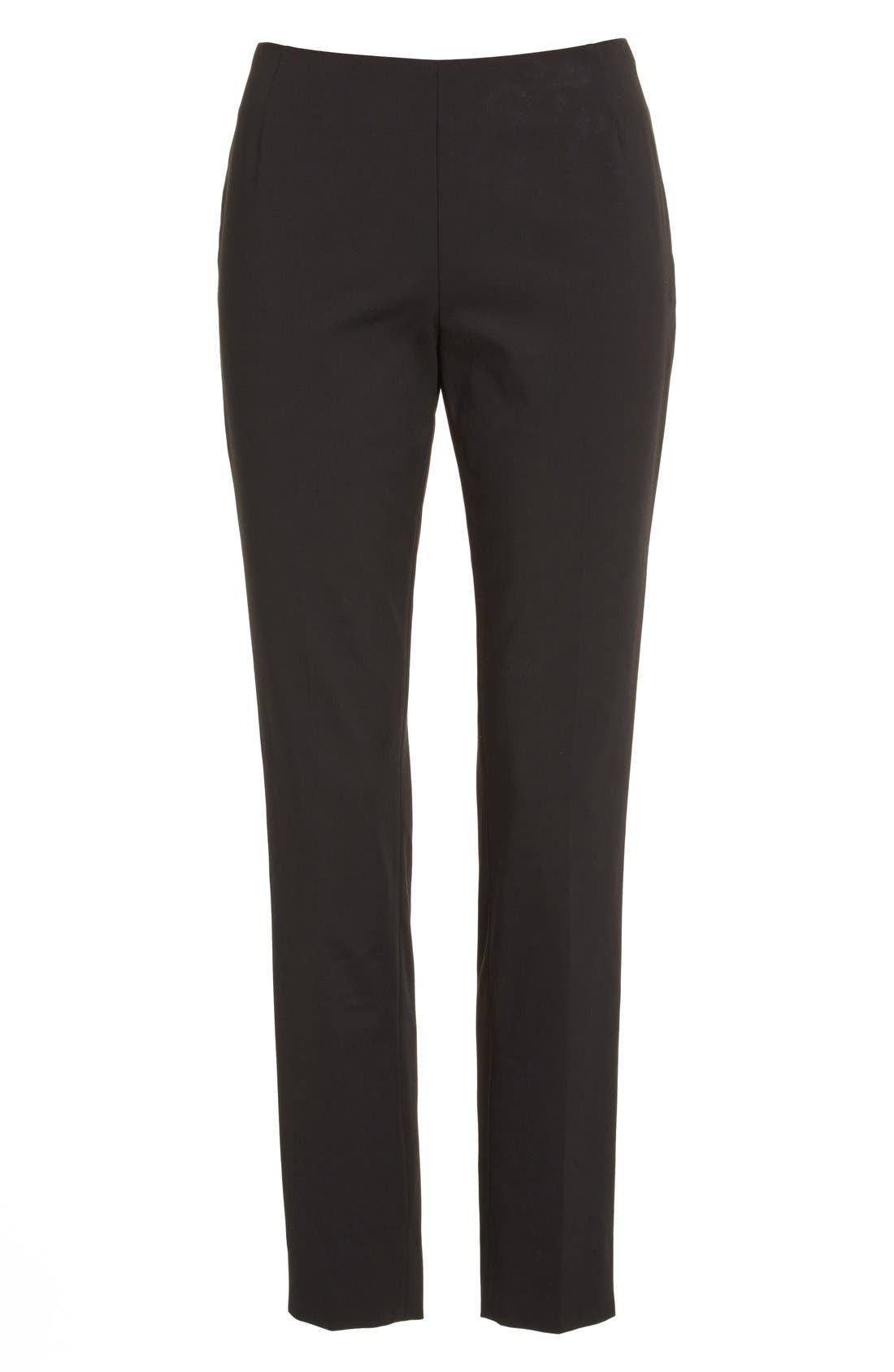 Alternate Image 4  - Lafayette 148 New York 'Stanton' Slim Leg Ankle Pants (Regular & Petite)