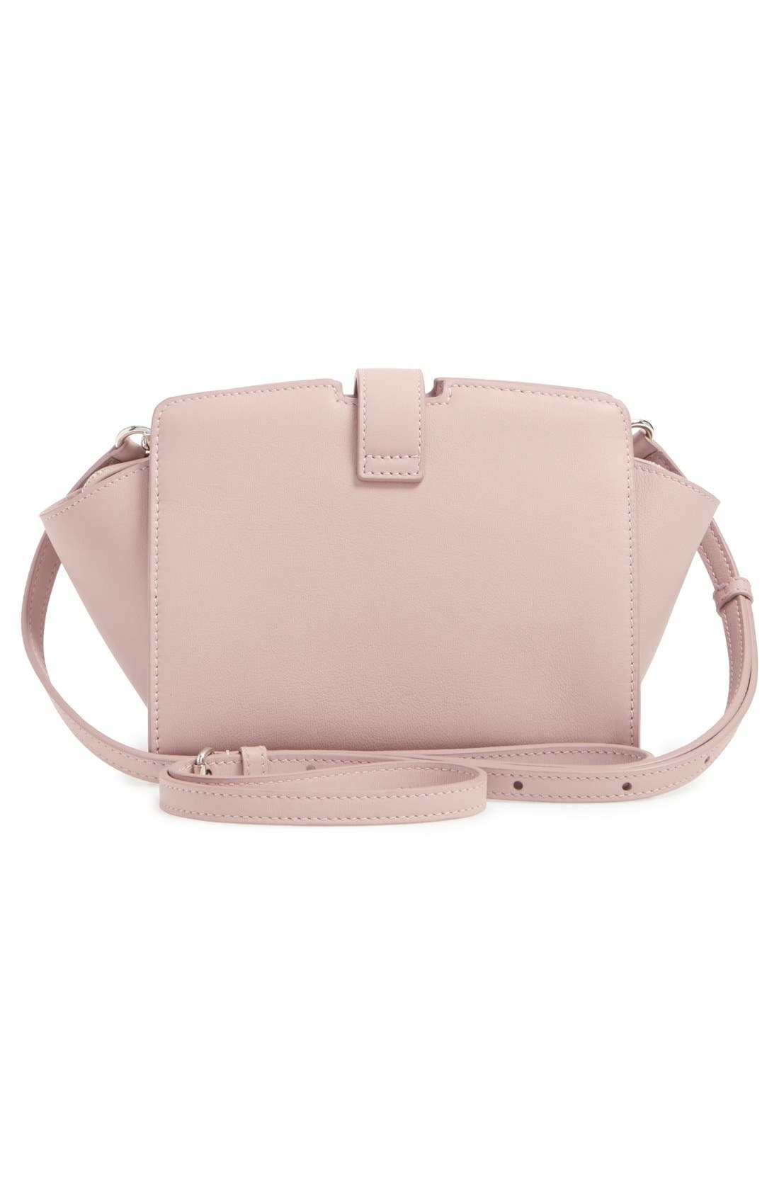 Toy Cabas Leather Crossbody Bag,                             Alternate thumbnail 3, color,                             Rose Antic