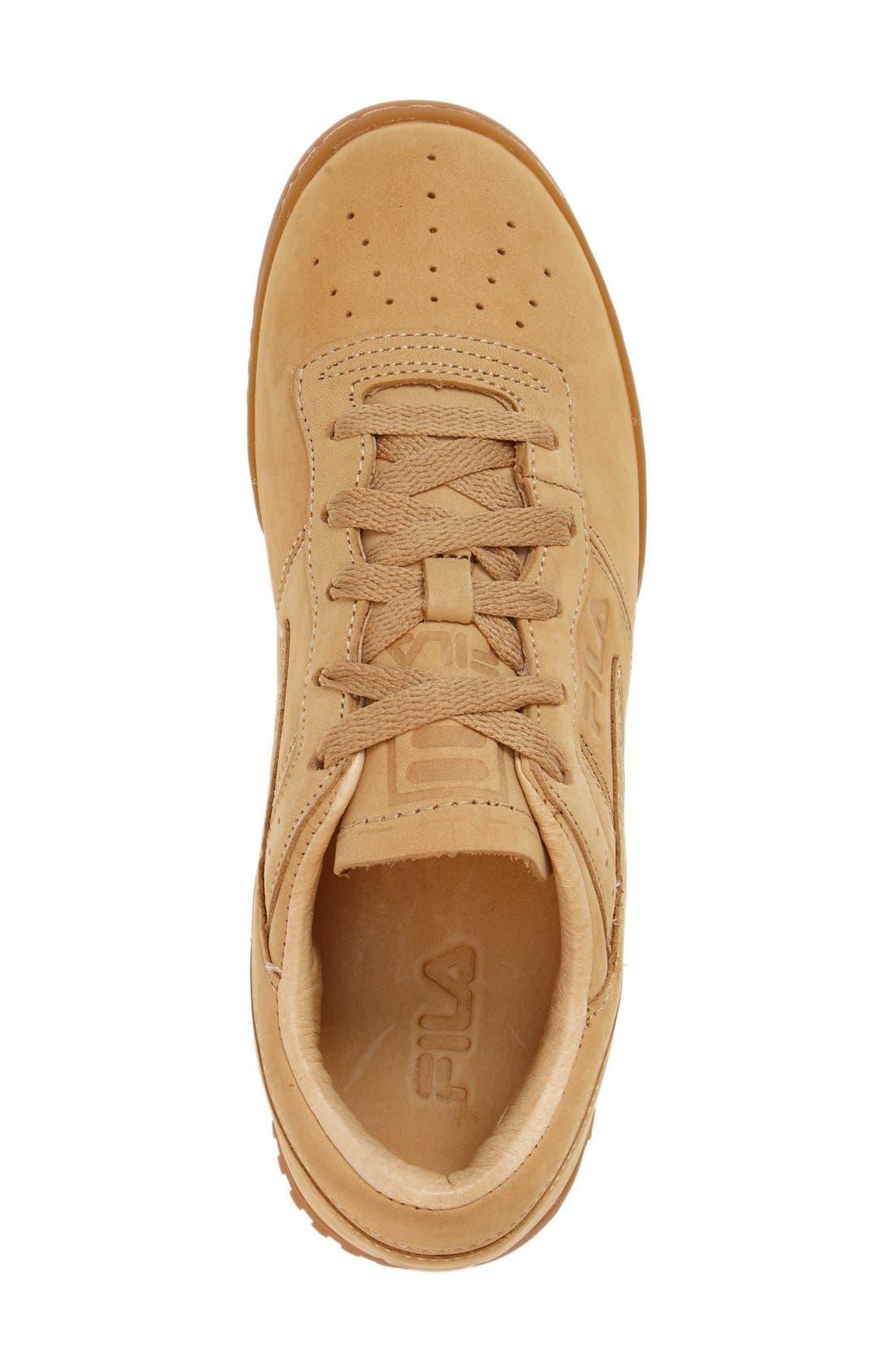 USA Heritage Sneaker,                             Alternate thumbnail 3, color,                             Tan Nubuck Leather