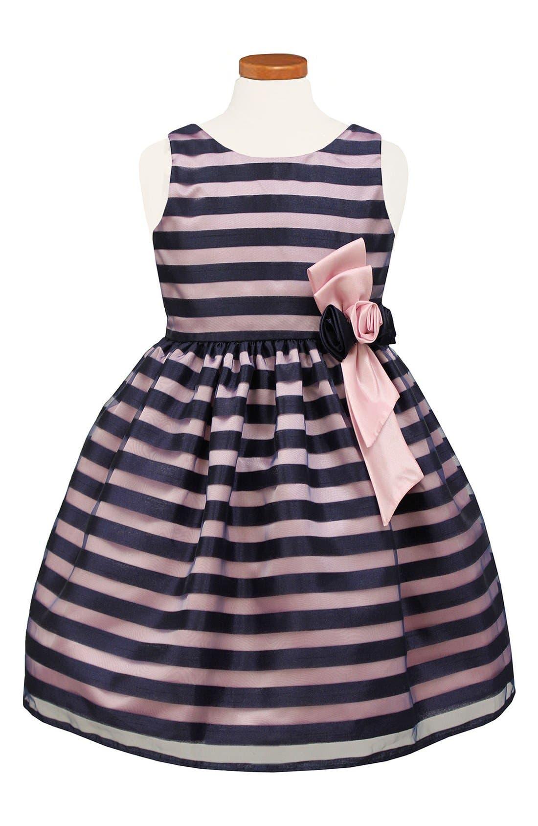 SORBET Stripe Burnout Organza Dress