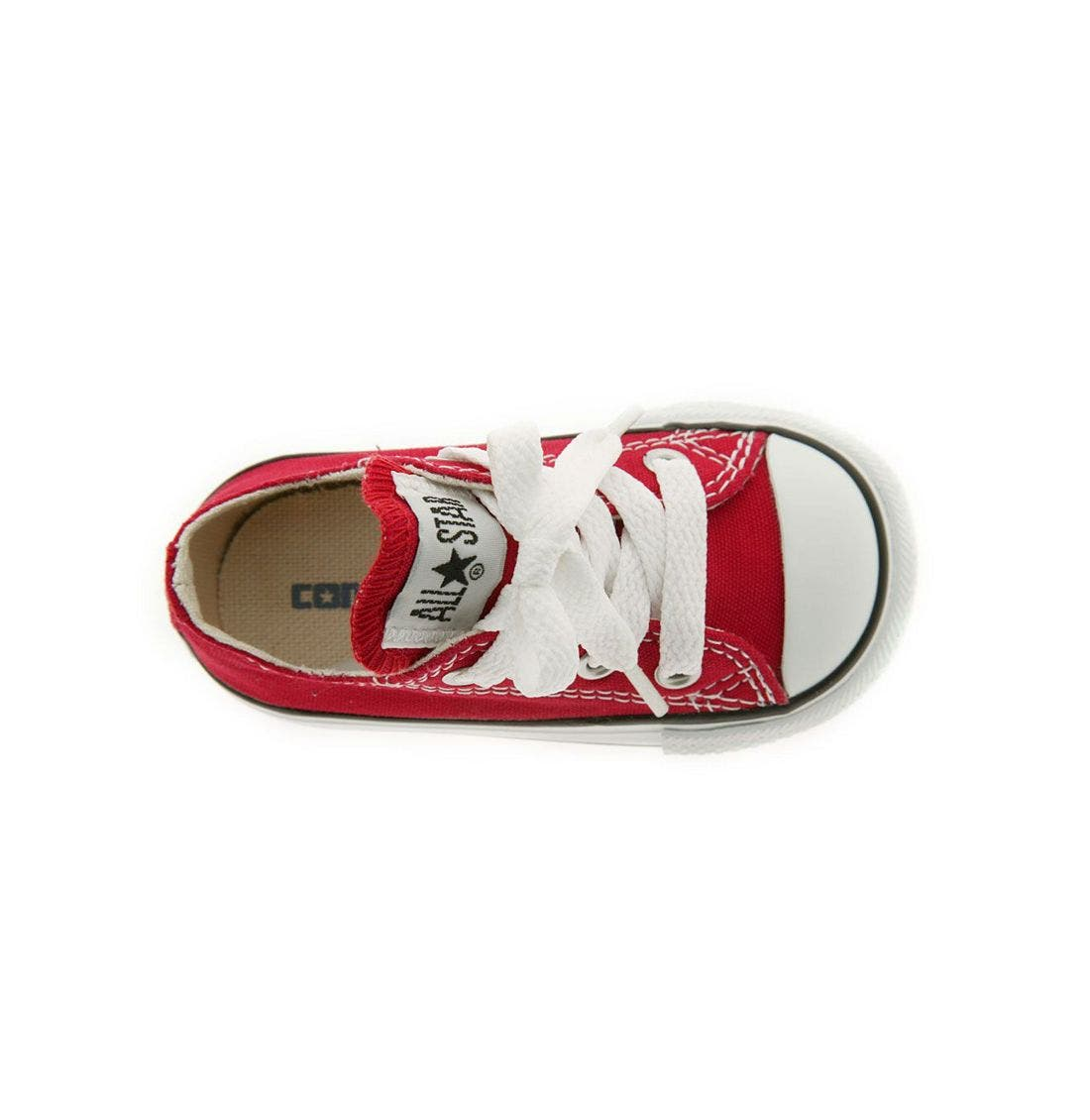 Chuck Taylor<sup>®</sup> Low Top Sneaker,                             Alternate thumbnail 3, color,                             Red