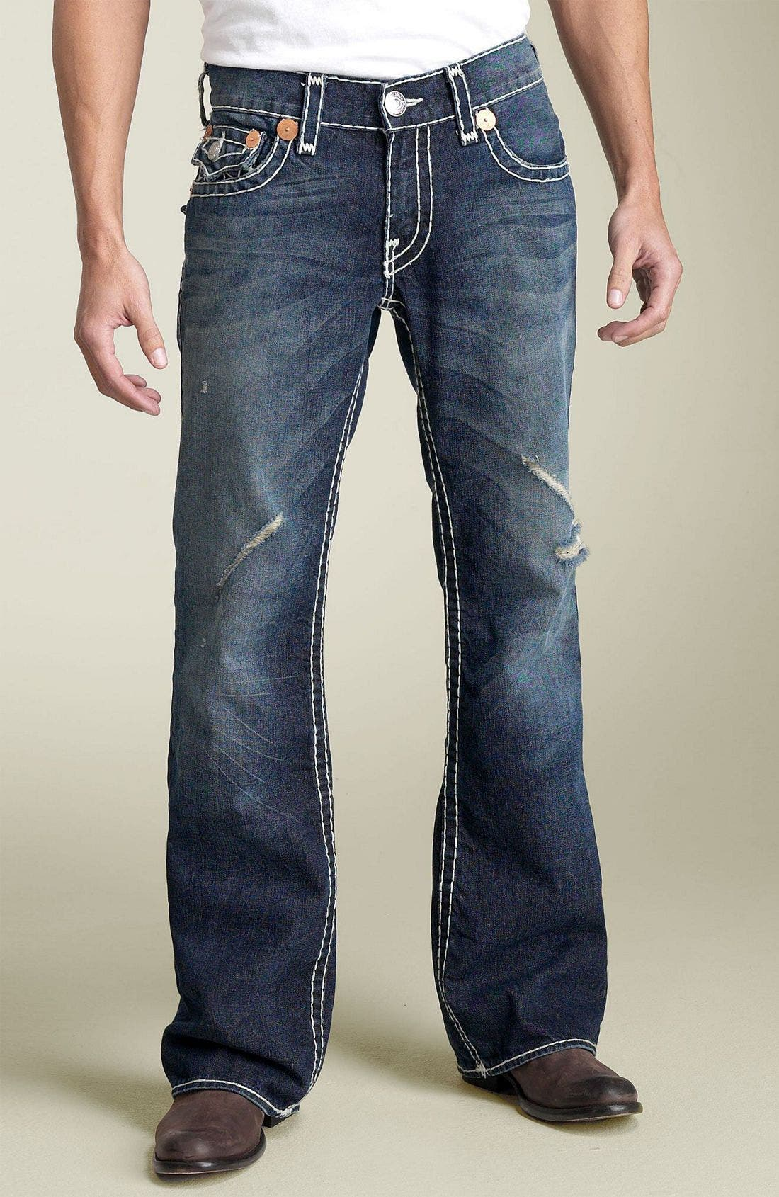 Alternate Image 2  - True Religion Brand Jeans 'Billy - Natural Super-T' Bootcut Jeans (Medium Moto Psycho)