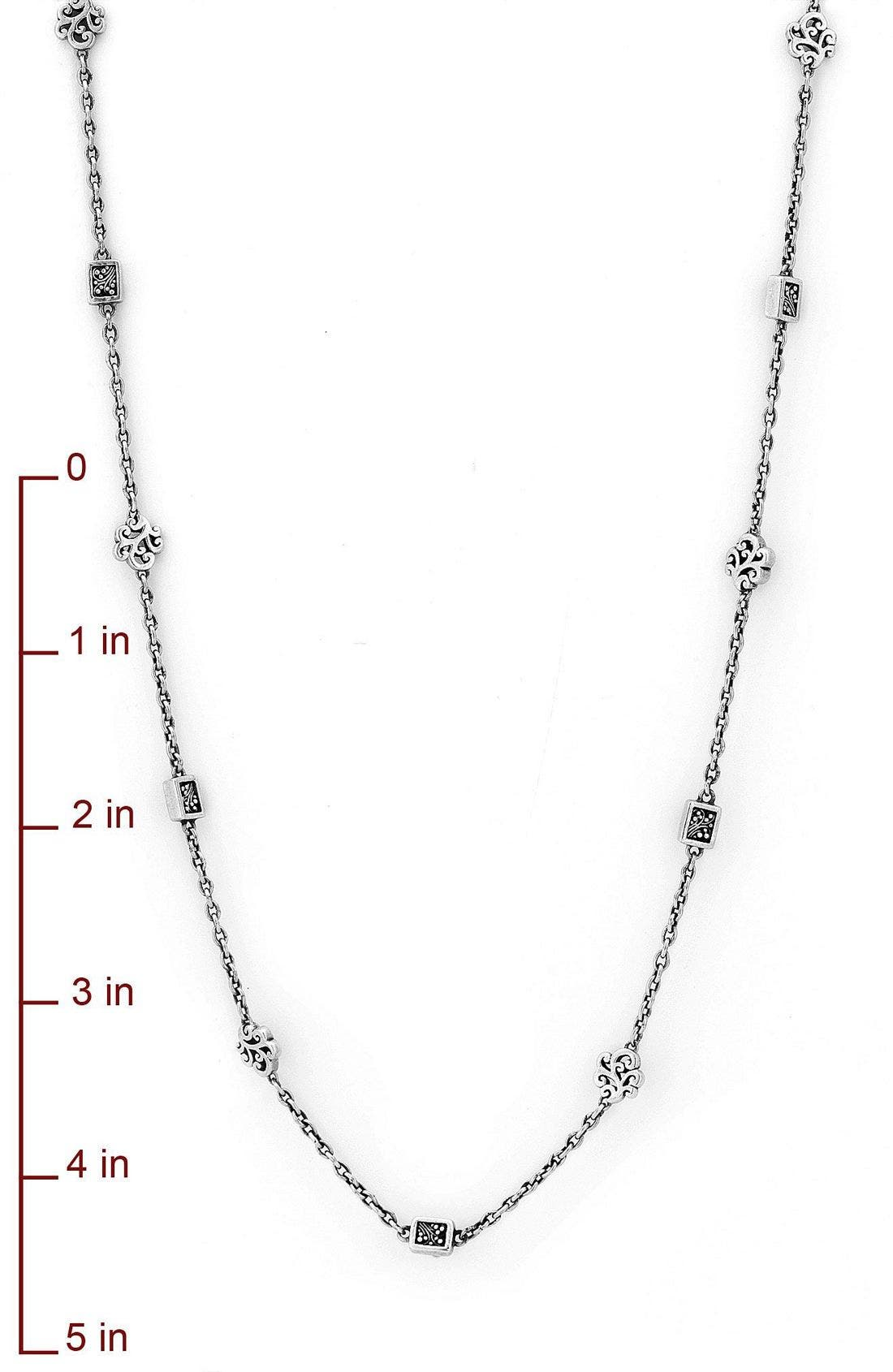 Alternate Image 2  - Lois Hill Cutout & Granulated Long Strand Necklace