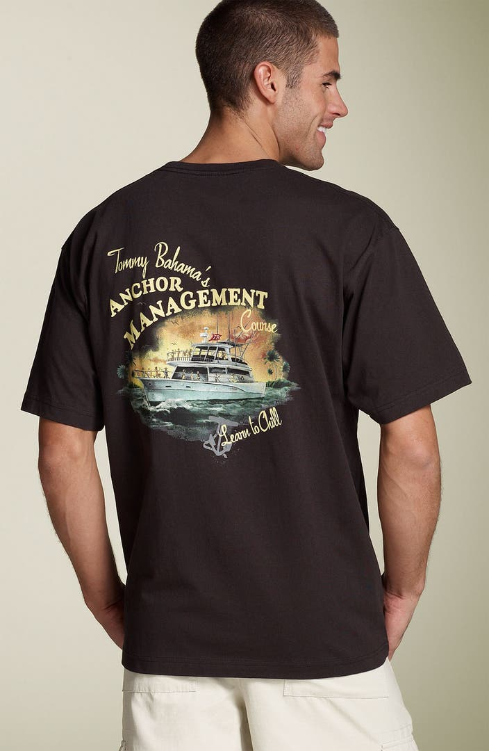 Tommy bahama 39 anchor management 39 short sleeve t shirt for Tommy bahama florida shirt