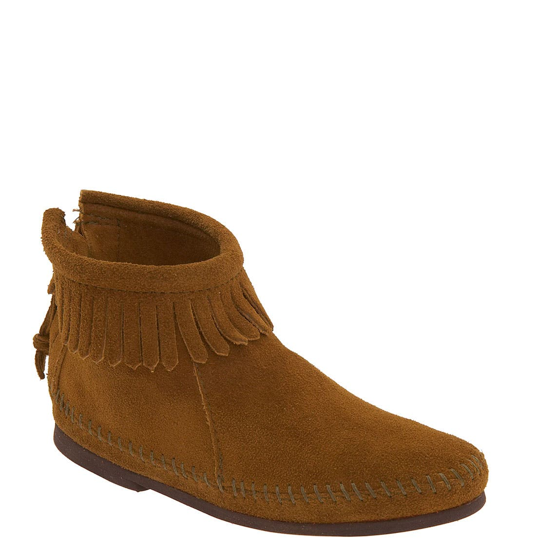 Alternate Image 1 Selected - Minnetonka Back Zip Boot (Toddler & Little Kid)