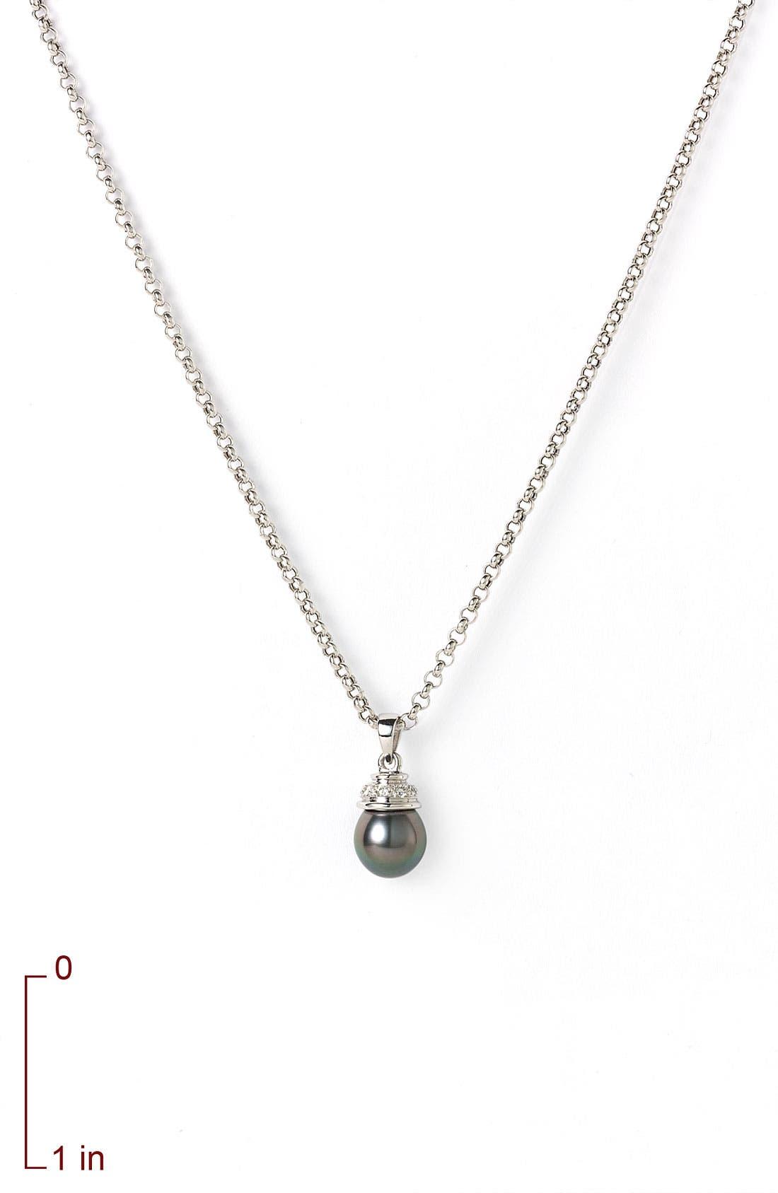 Alternate Image 2  - Mastoloni Tahitian Pearl Pendant Necklace