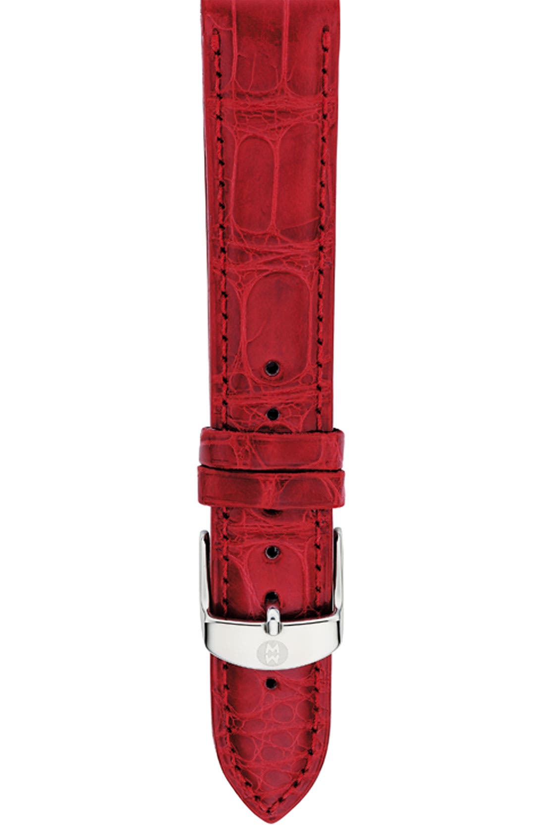Alternate Image 1 Selected - MICHELE 18mm Alligator Watch Strap