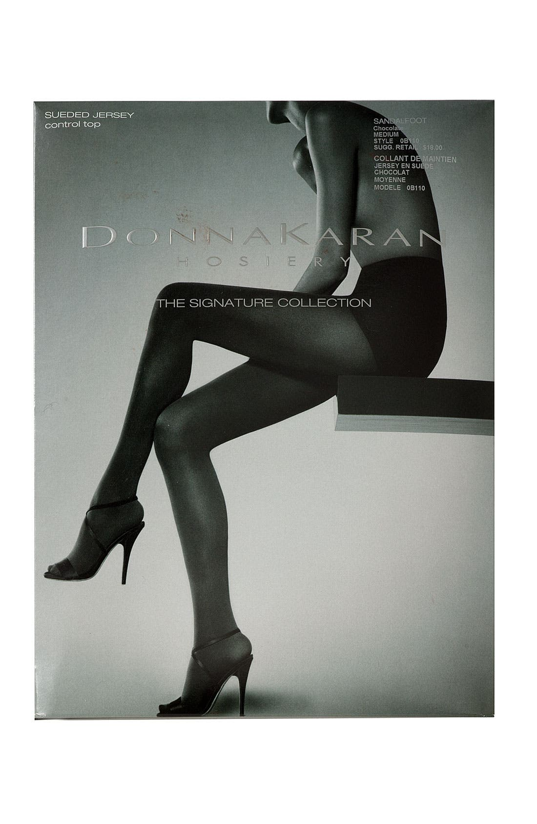 Alternate Image 2  - Donna Karan Sueded Jersey Control Top Tights