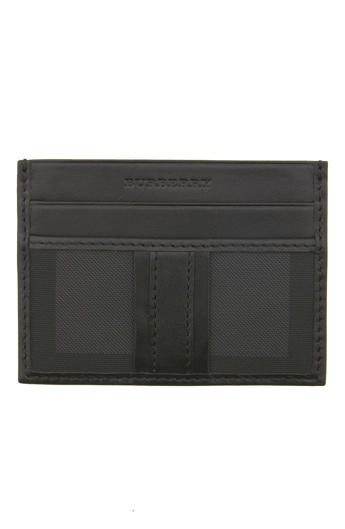 Alternate Image 1 Selected - Burberry Front Pocket Credit Card Case