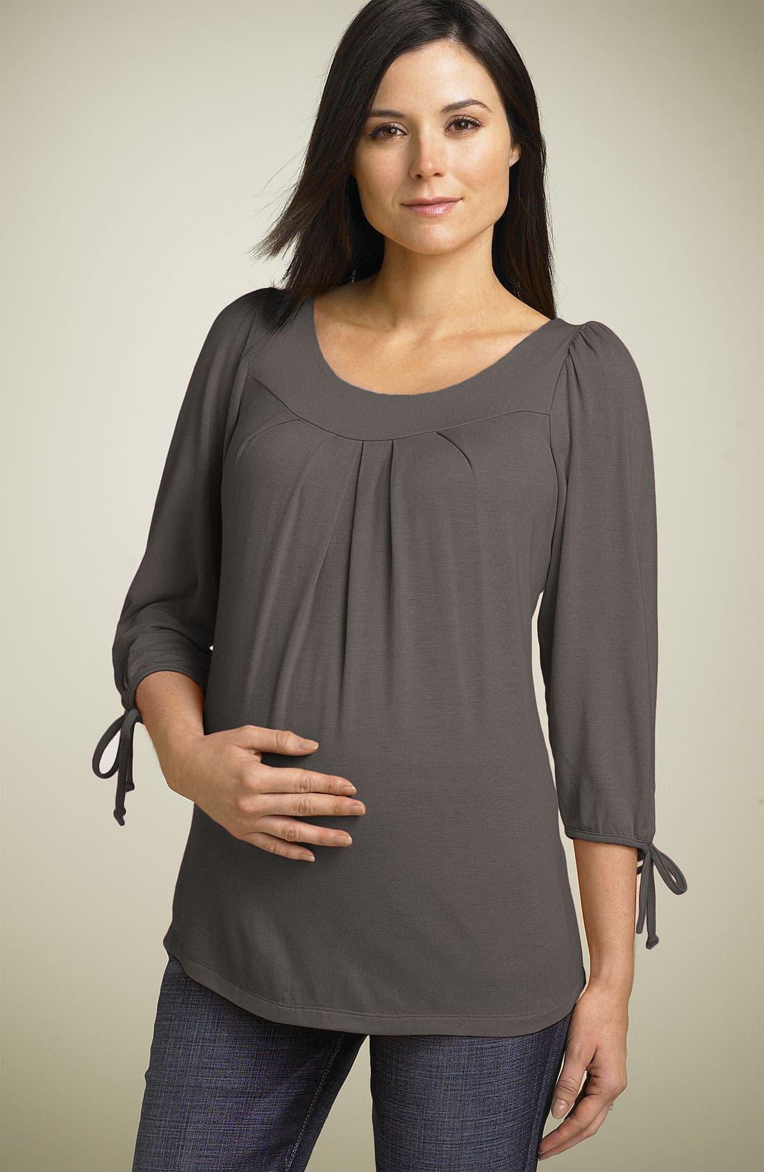 Main Image - Maternal America Maternity Tie Sleeve Top