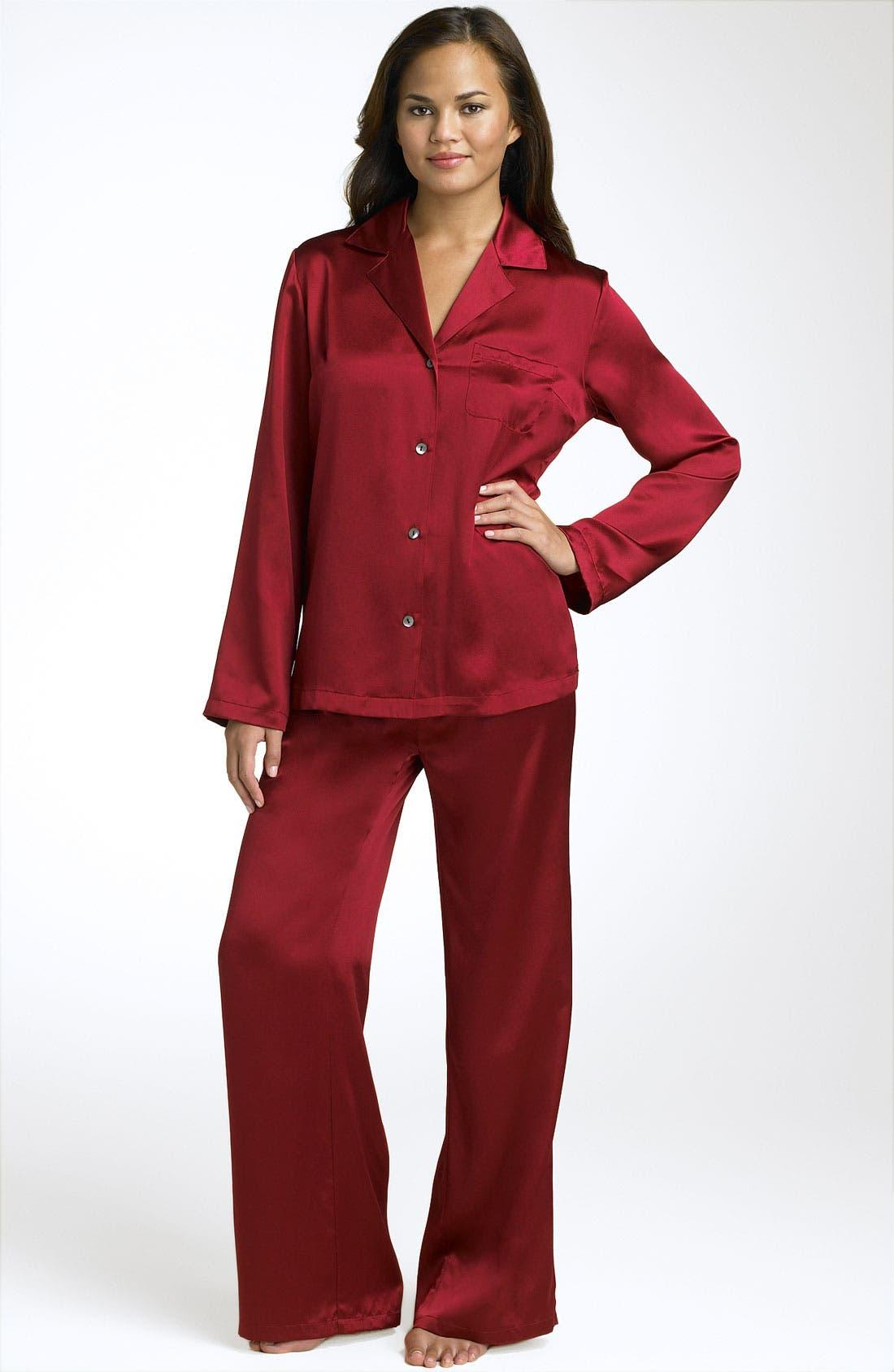 Alternate Image 1 Selected - Shimera Silk Pajamas