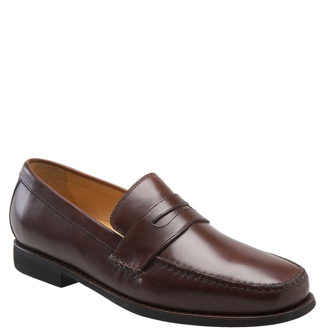 'Ainsworth' Penny Loafer,                             Main thumbnail 1, color,                             Antique Mahogany