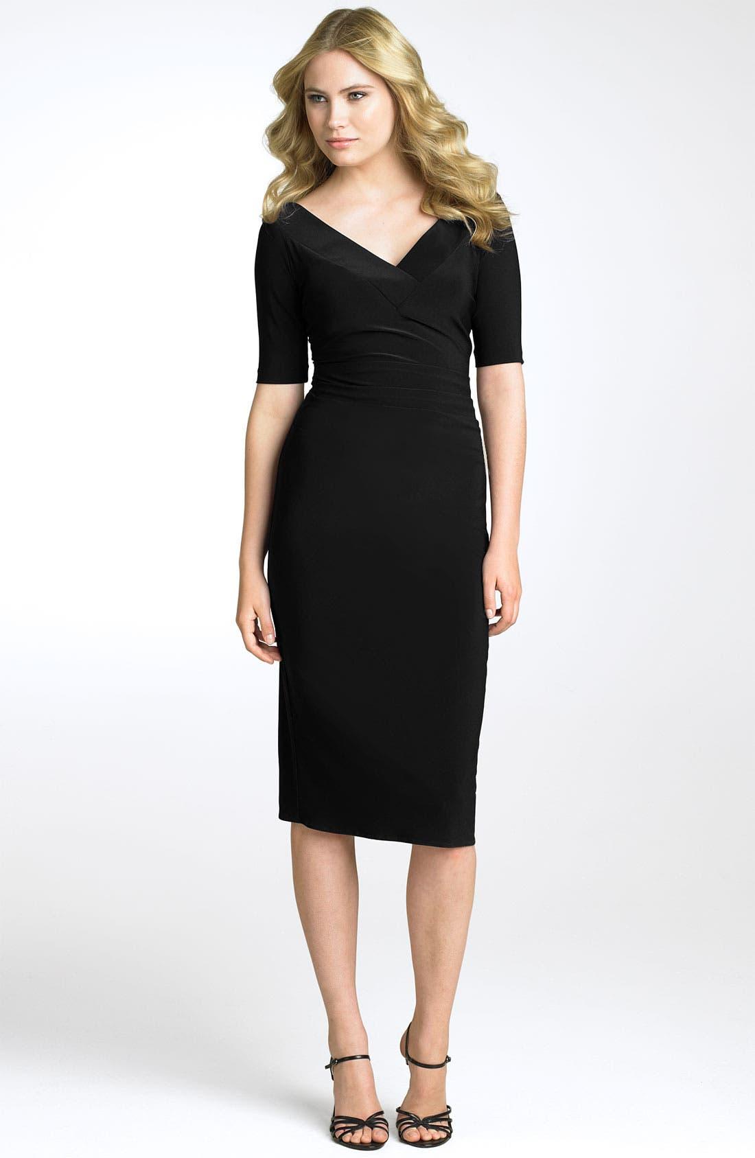Main Image - Maggy London Matte Jersey Sheath Dress