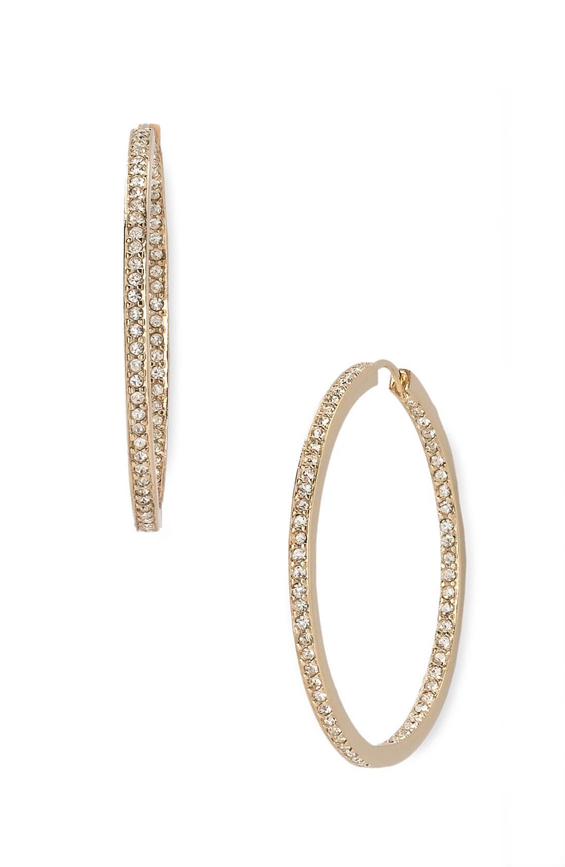 Alternate Image 1 Selected - Nadri Large Channel Hoop Earrings