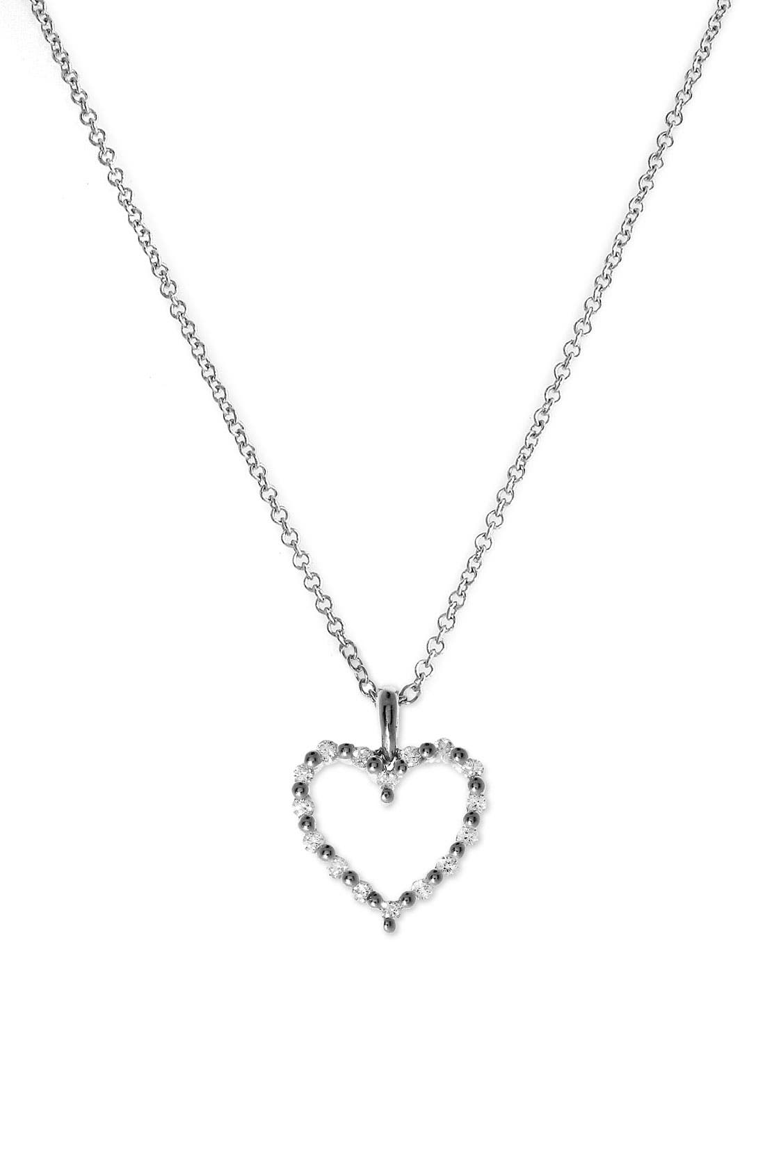 Alternate Image 1 Selected - Bony Levy Diamond Heart Pendant Necklace (Nordstrom Exclusive)