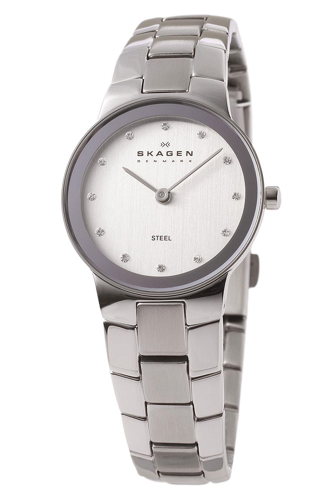 Alternate Image 1 Selected - Skagen 'Stine' Crystal Index Watch, 32mm