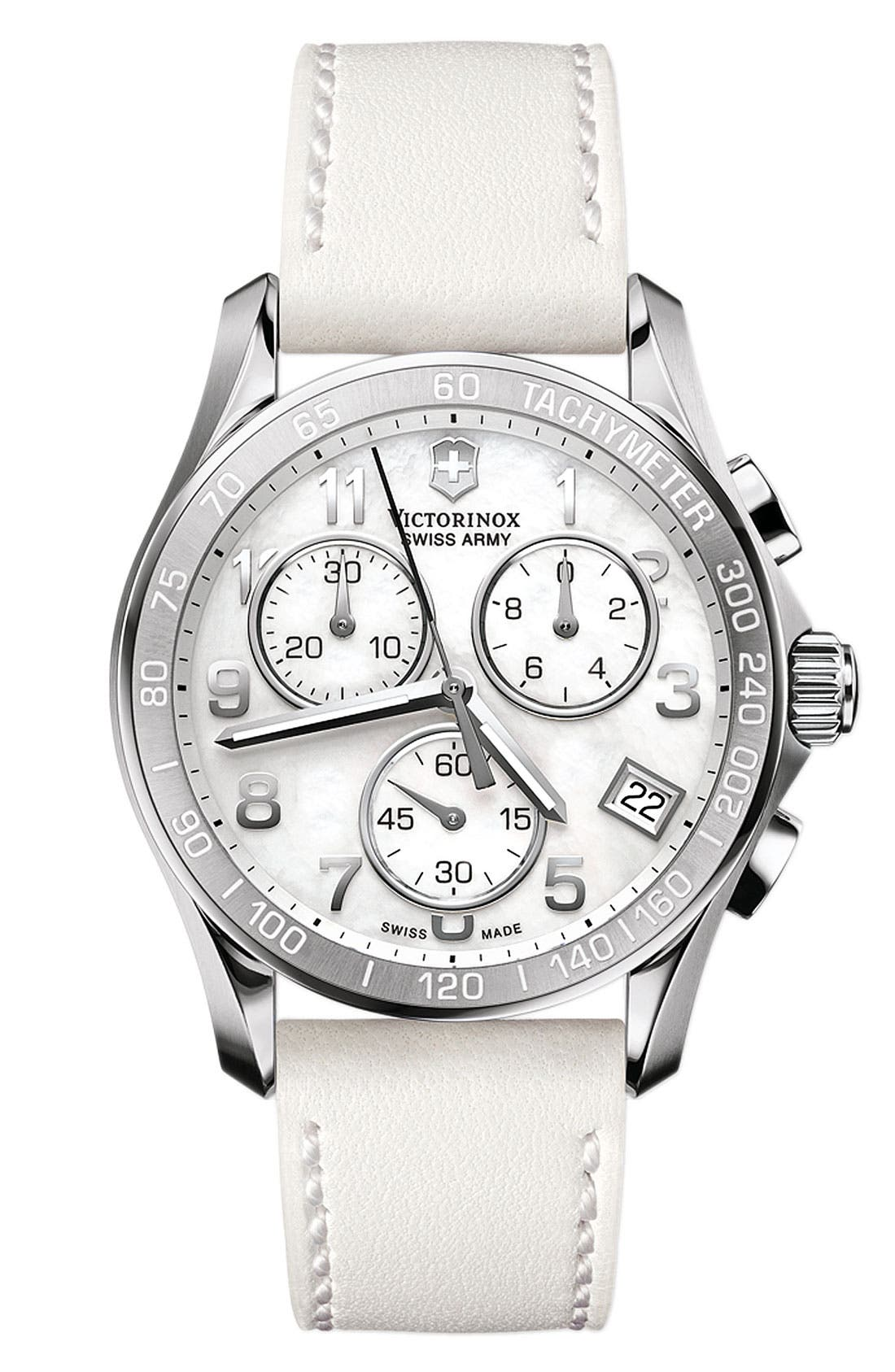 Alternate Image 1 Selected - Victorinox Swiss Army® Mother-of-Pearl Chronograph Watch, 41mm