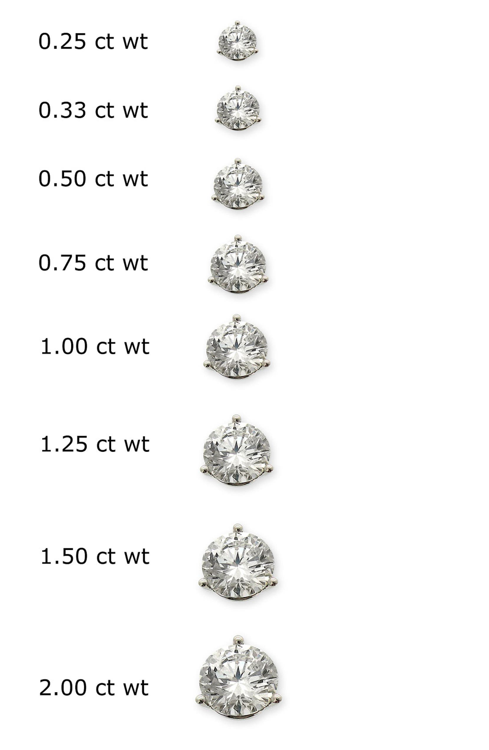 1 2 Carat Diamond Earrings Actual Size Actual Size Of 1 4