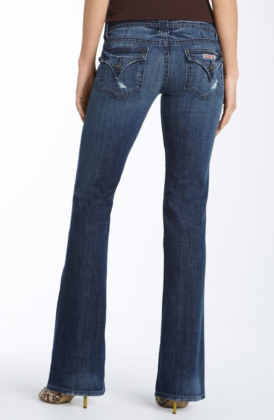 Alternate Image 1 Selected - Hudson Jeans 'Supermodel' Bootcut Stretch Jeans (Sandra Wash) (Long)