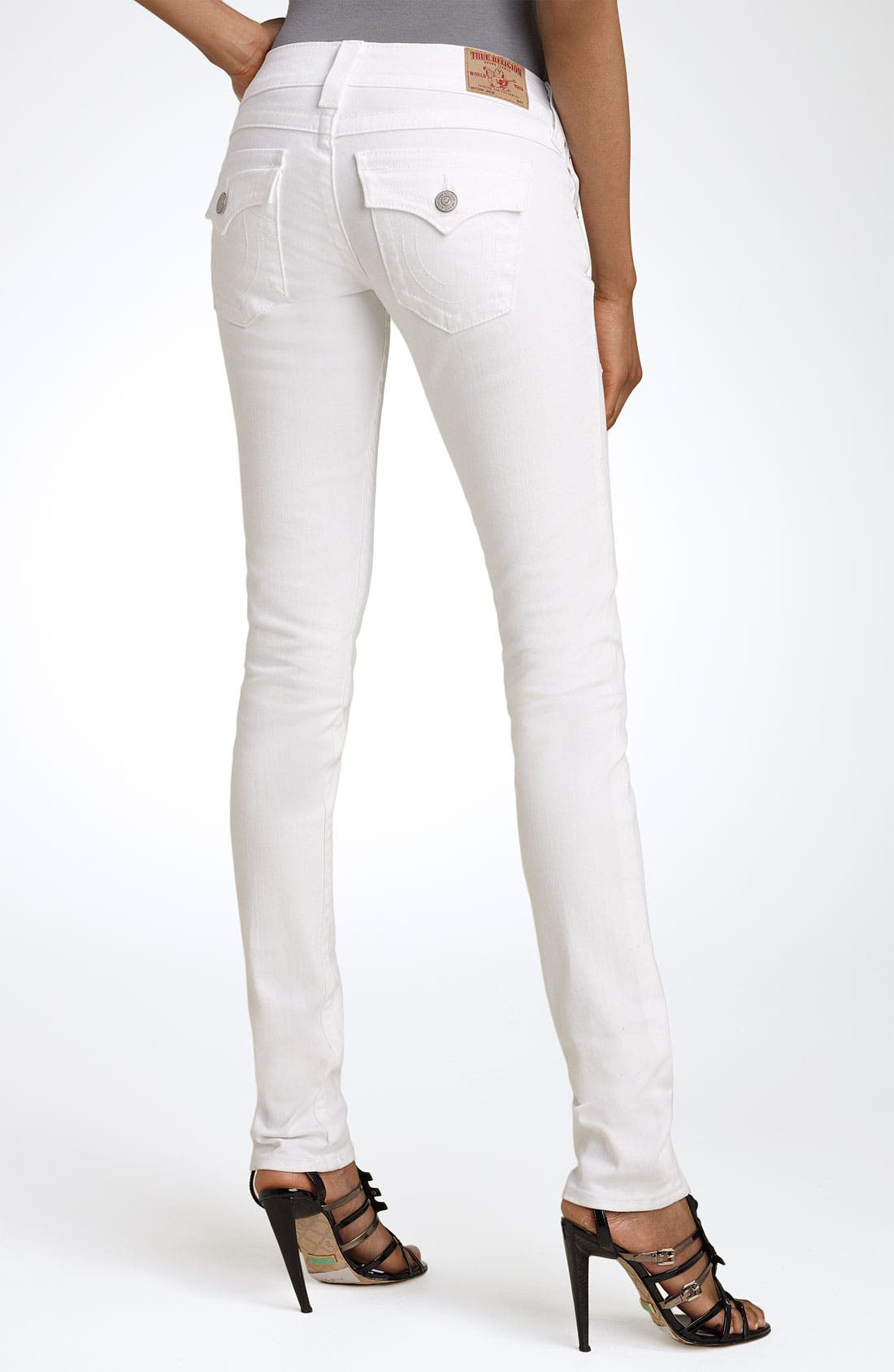 Alternate Image 1 Selected - True Religion Brand Jeans 'Julie' Skinny Stretch Jeans (Body Rinse White)