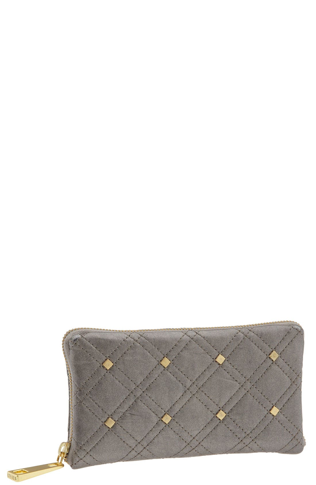 Main Image - Steven by Steve Madden Quilted Zip Around Wallet