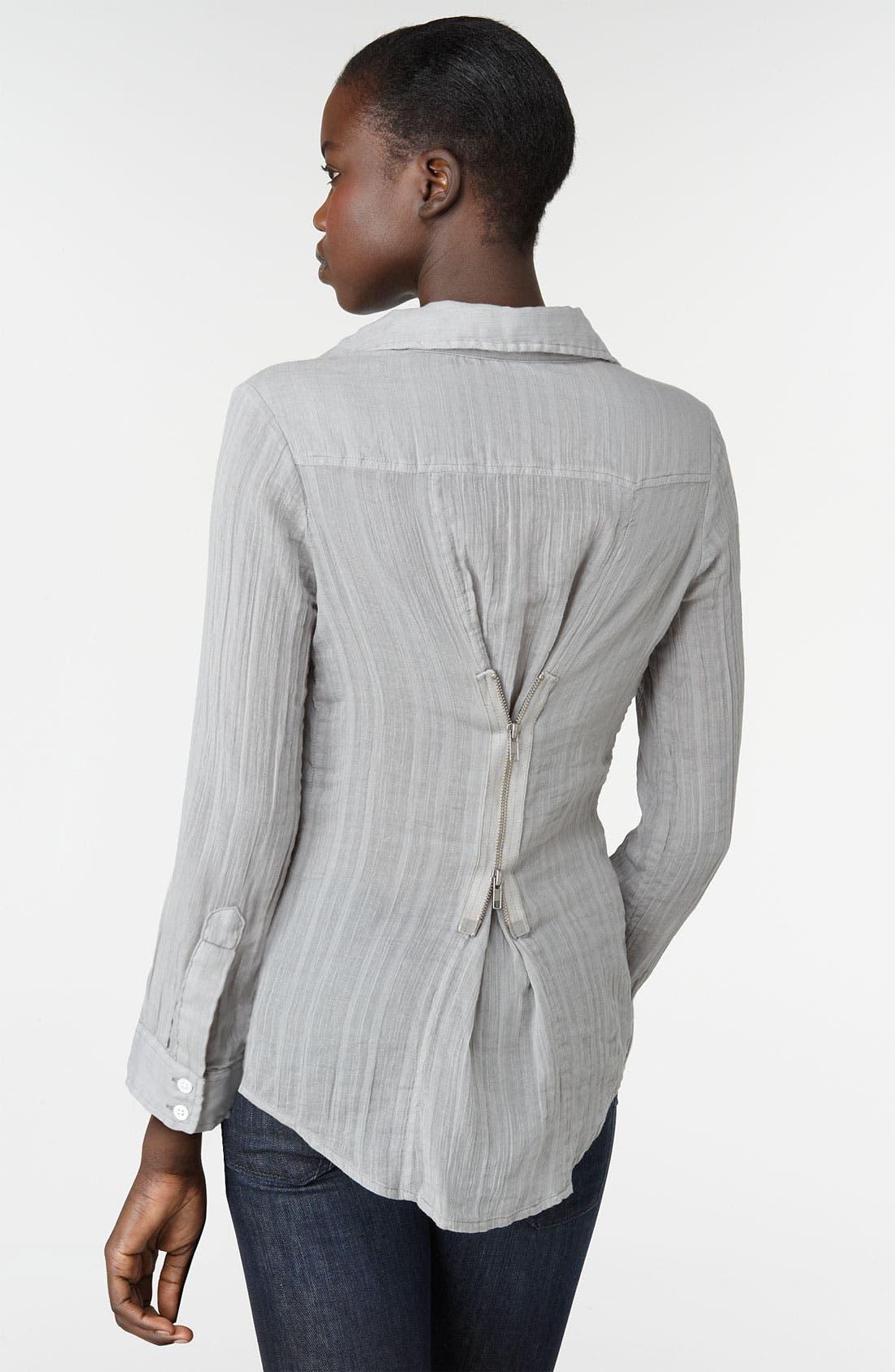 Alternate Image 2  - Elizabeth and James 'Cohen' Back Zip Shirt