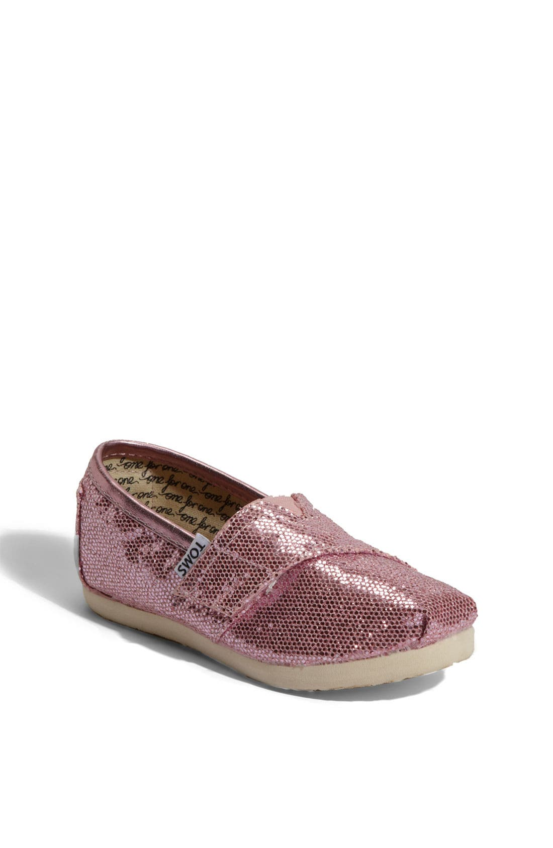 Alternate Image 1 Selected - TOMS 'Classic - Tiny' Canvas Slip-On (Toddler)