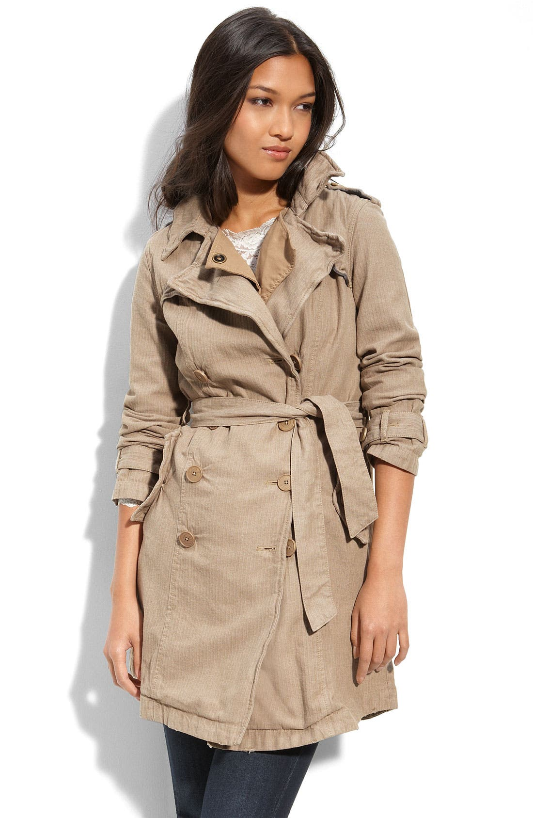 Alternate Image 1 Selected - Free People Military Trench Coat