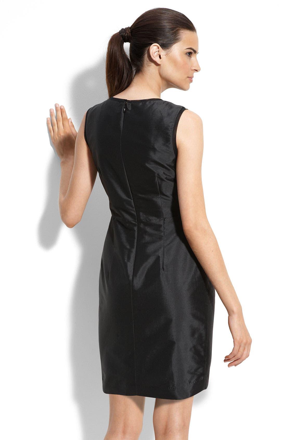 Alternate Image 2  - Alexia Admor Sequin Trim Taffeta Sheath Dress