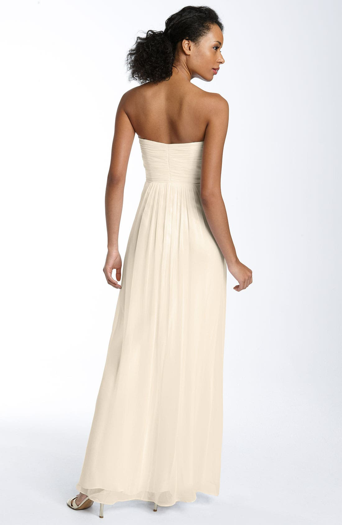 Alternate Image 2  - Laundry by Shelli Segal Beaded & Twisted Sweetheart Chiffon Gown