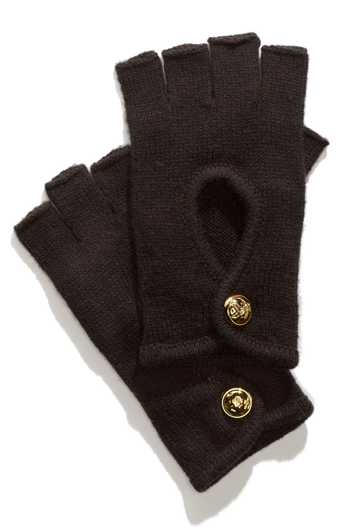 Main Image - MICHAEL Michael Kors Fingerless Knit Driving Gloves