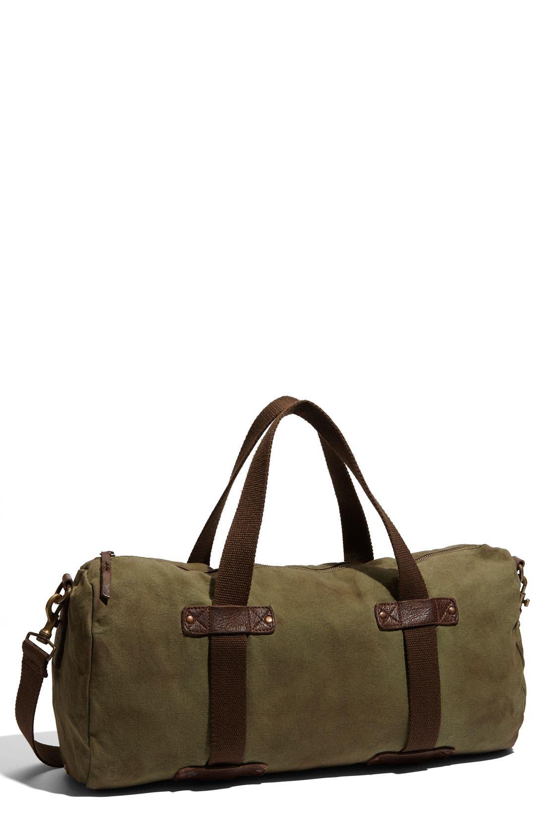 Canvas Duffel Bag,                         Main,                         color, Army