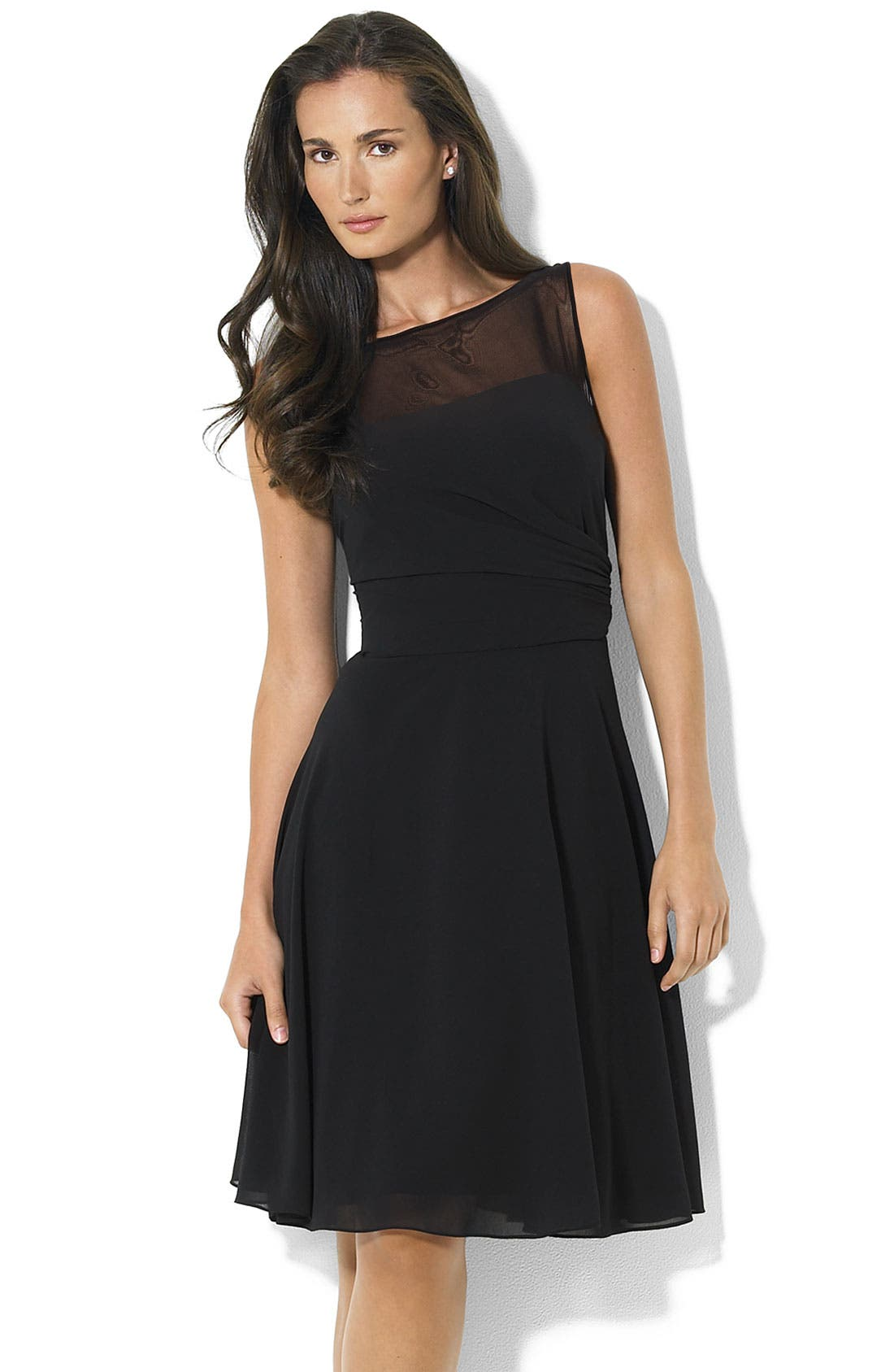 Alternate Image 1 Selected - Lauren by Ralph Lauren Chiffon Dress