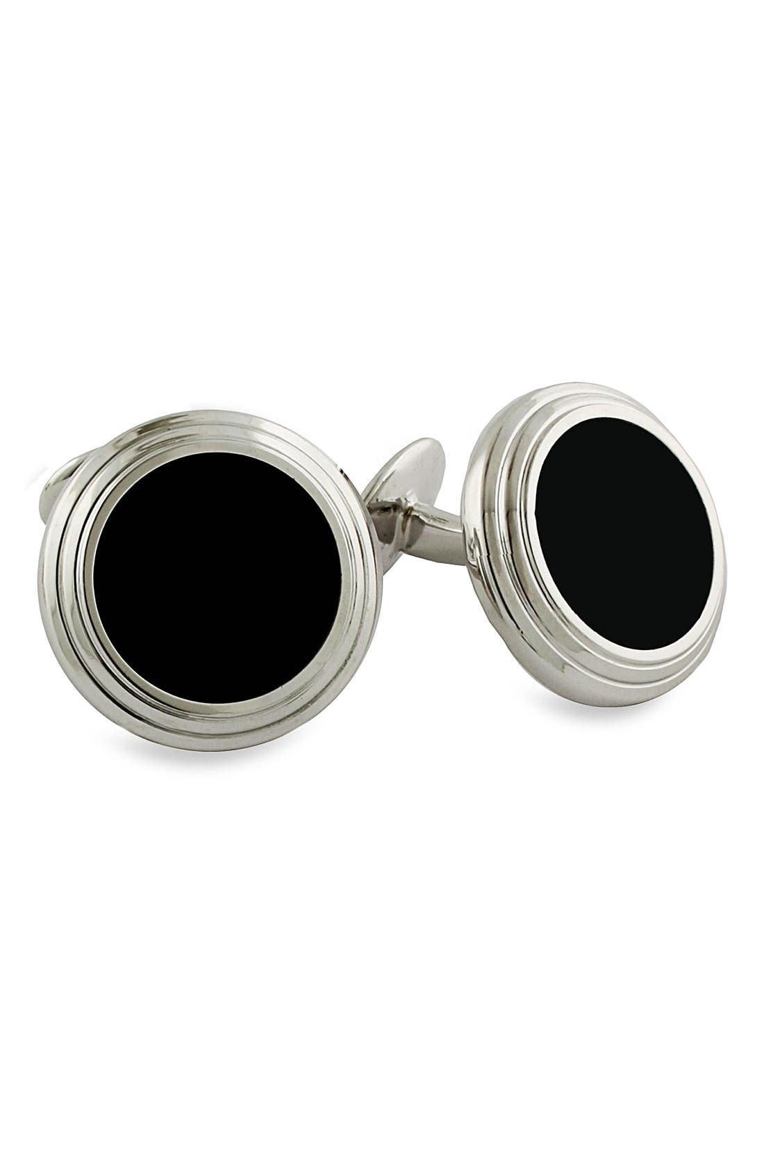 Main Image - David Donahue Onyx Cuff Links