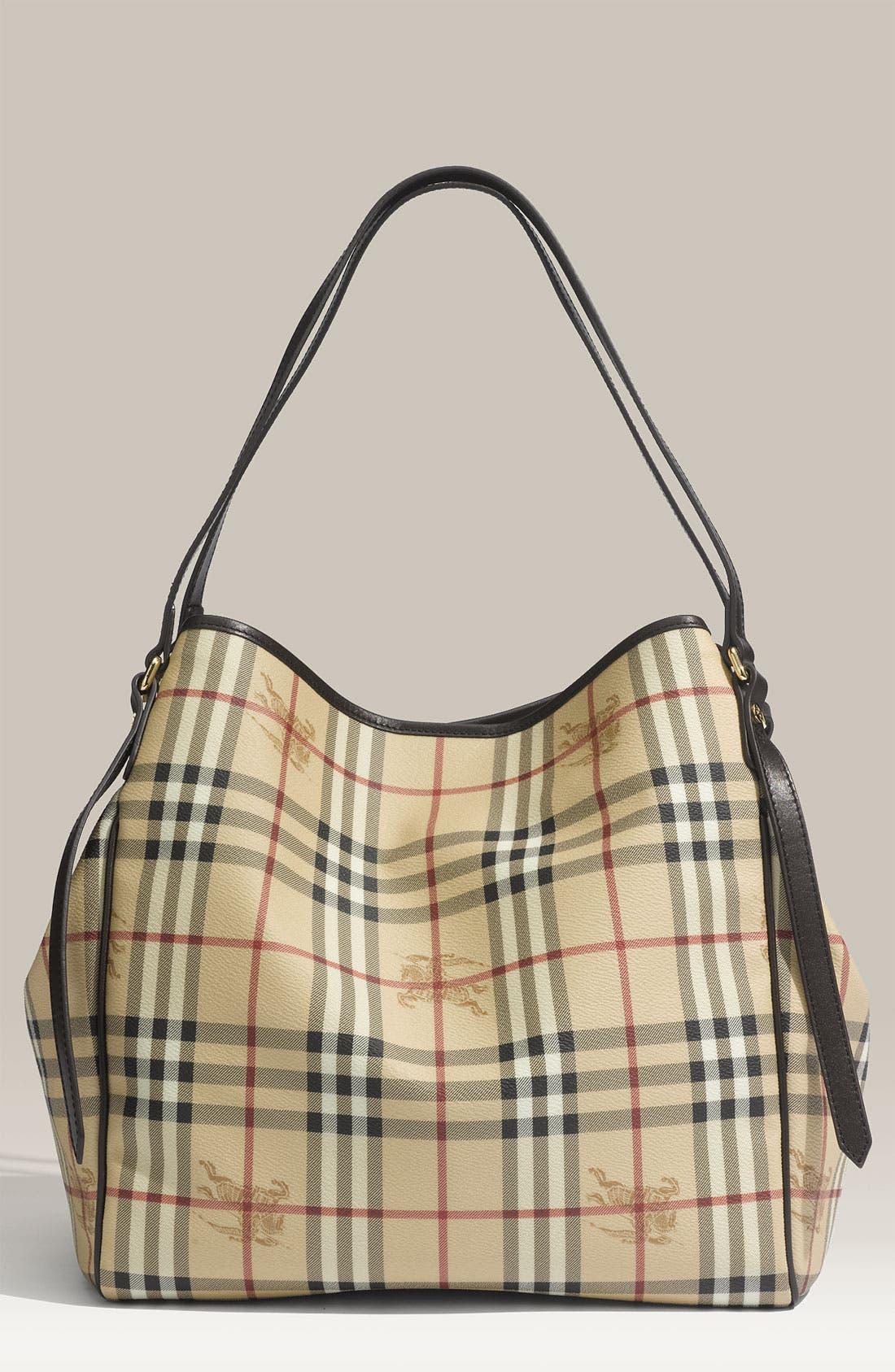 Alternate Image 1 Selected - Burberry 'Medium Haymarket Check' Shoulder Bag