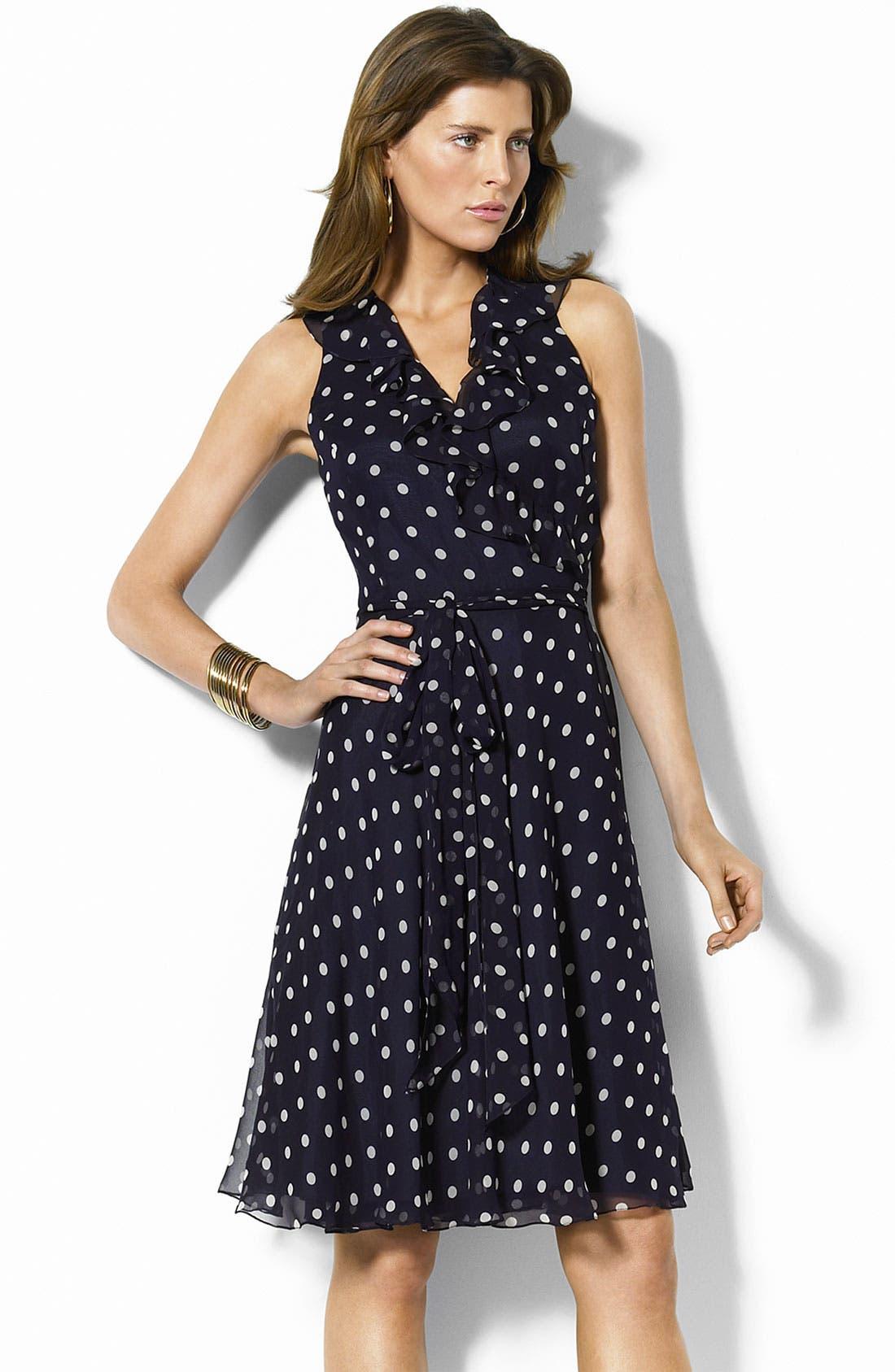 Main Image - Lauren by Ralph Lauren Georgette Wrap Dress