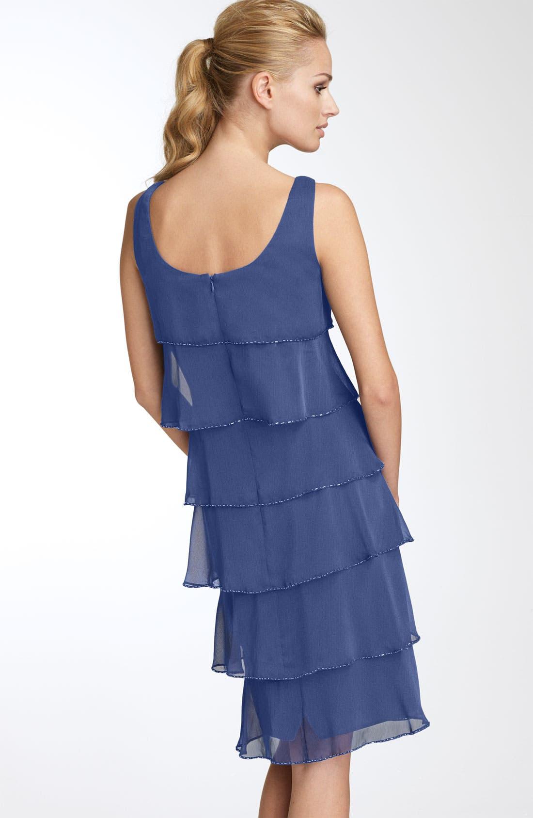 Alternate Image 2  - Patra Beaded Iridescent Chiffon Dress
