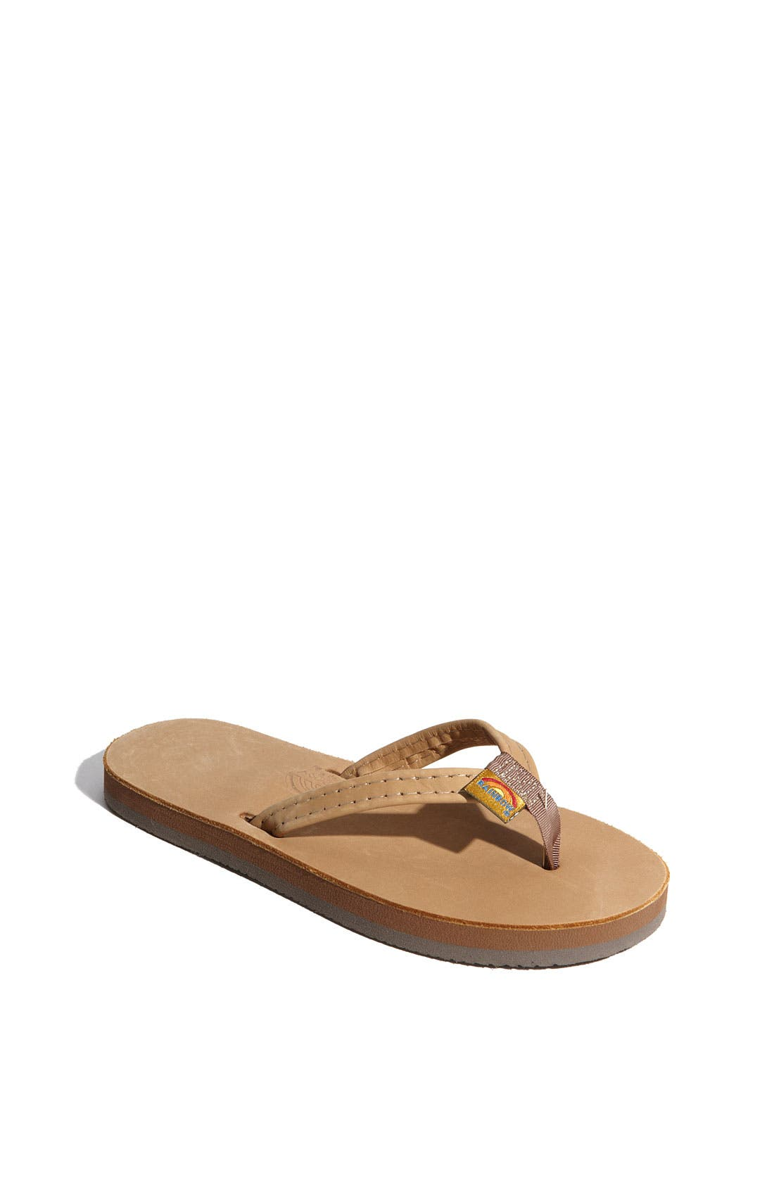 Main Image - Rainbow Leather Flip Flop (Toddler, Little Kid & Big Kid)