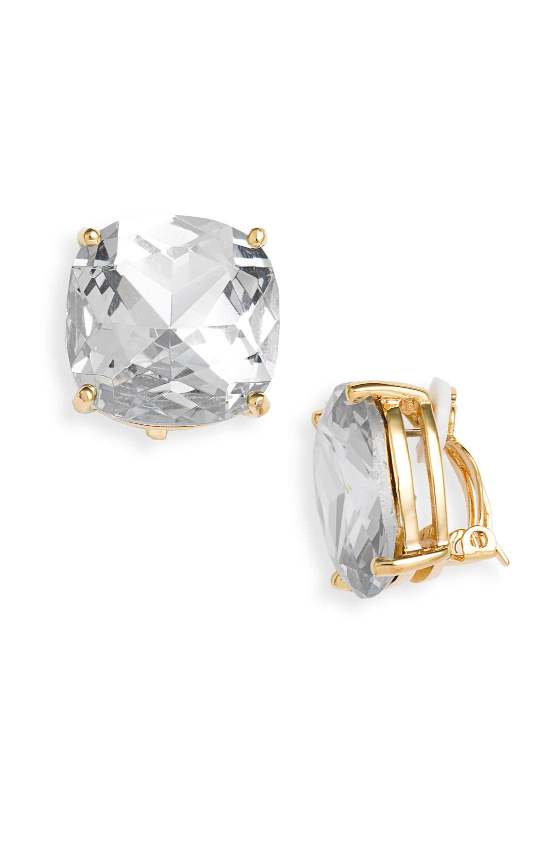 Alternate Image 1 Selected - kate spade new york large faceted clip earrings