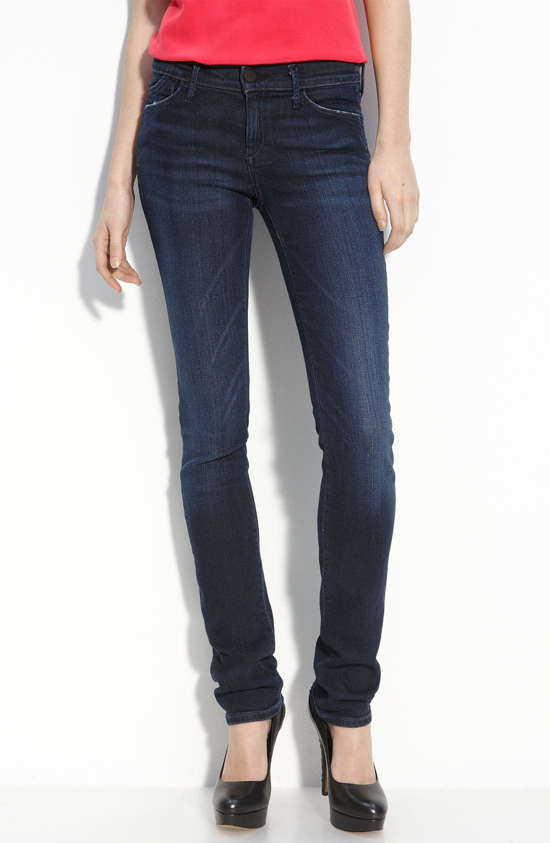 Alternate Image 2  - Goldsign 'Misfit' Straight Leg Stretch Jeans (Motif Wash)