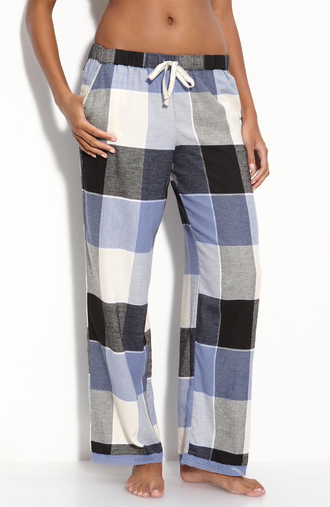 Main Image - DKNY 'Checked In' Pajama Pants