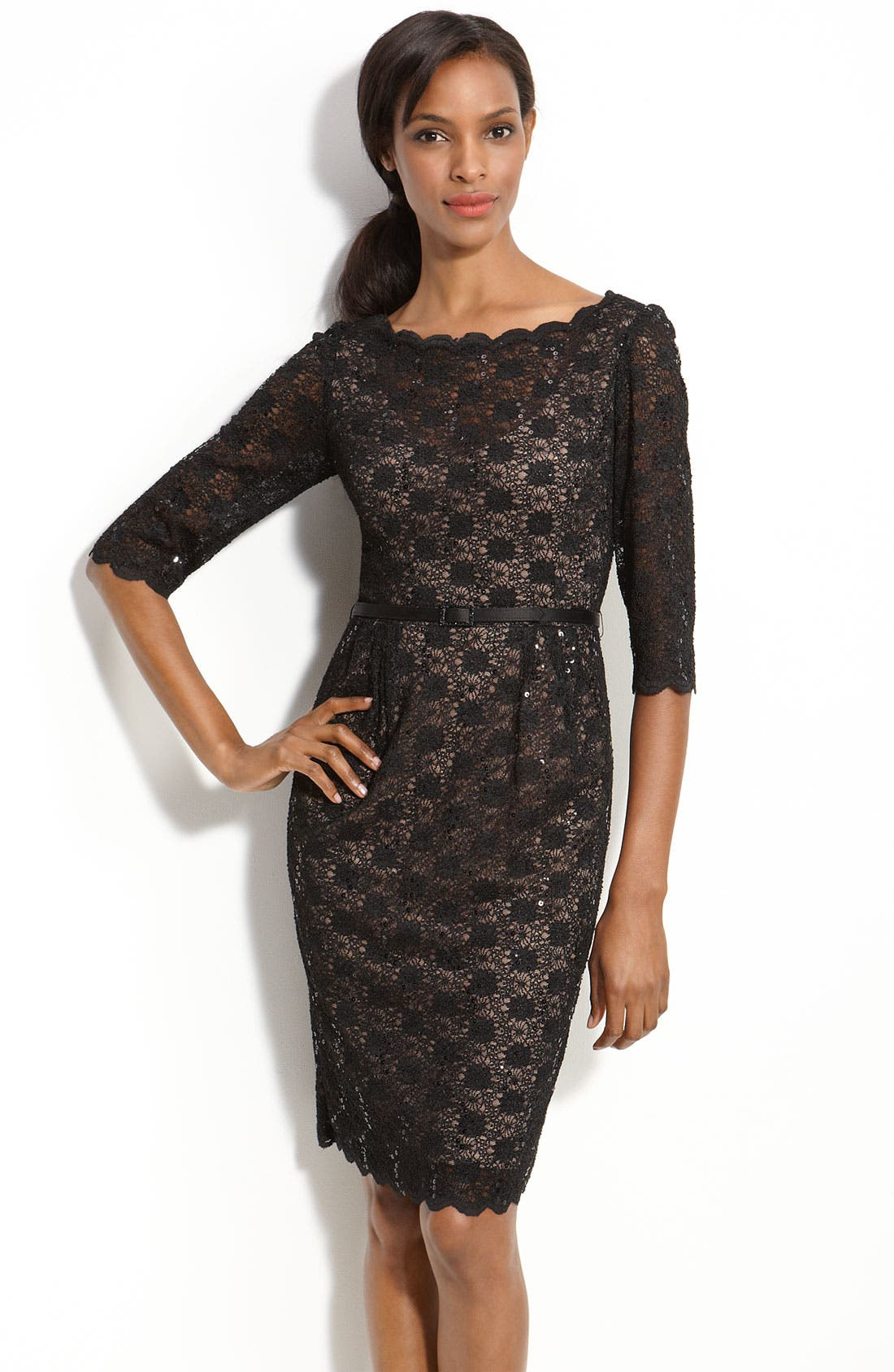 Alternate Image 1 Selected - Alex Evenings Lace Sheath Dress