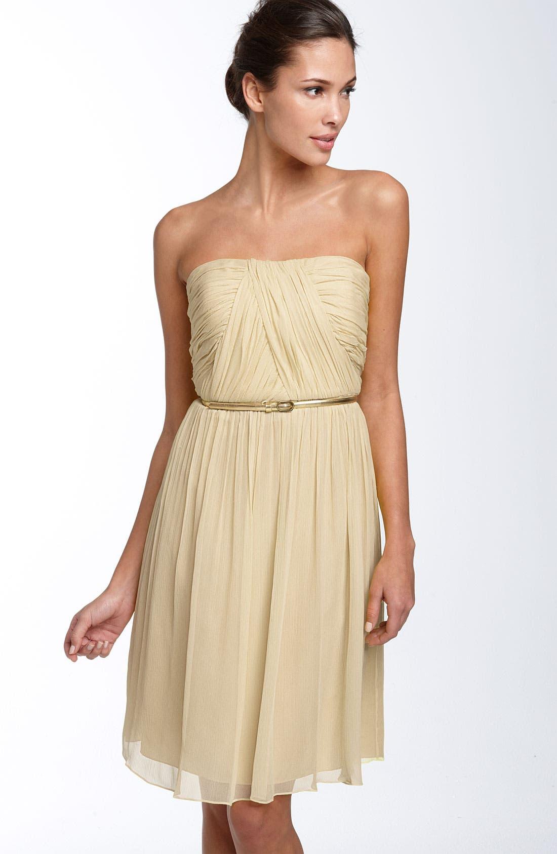 Main Image - Donna Morgan Belted Chiffon Dress