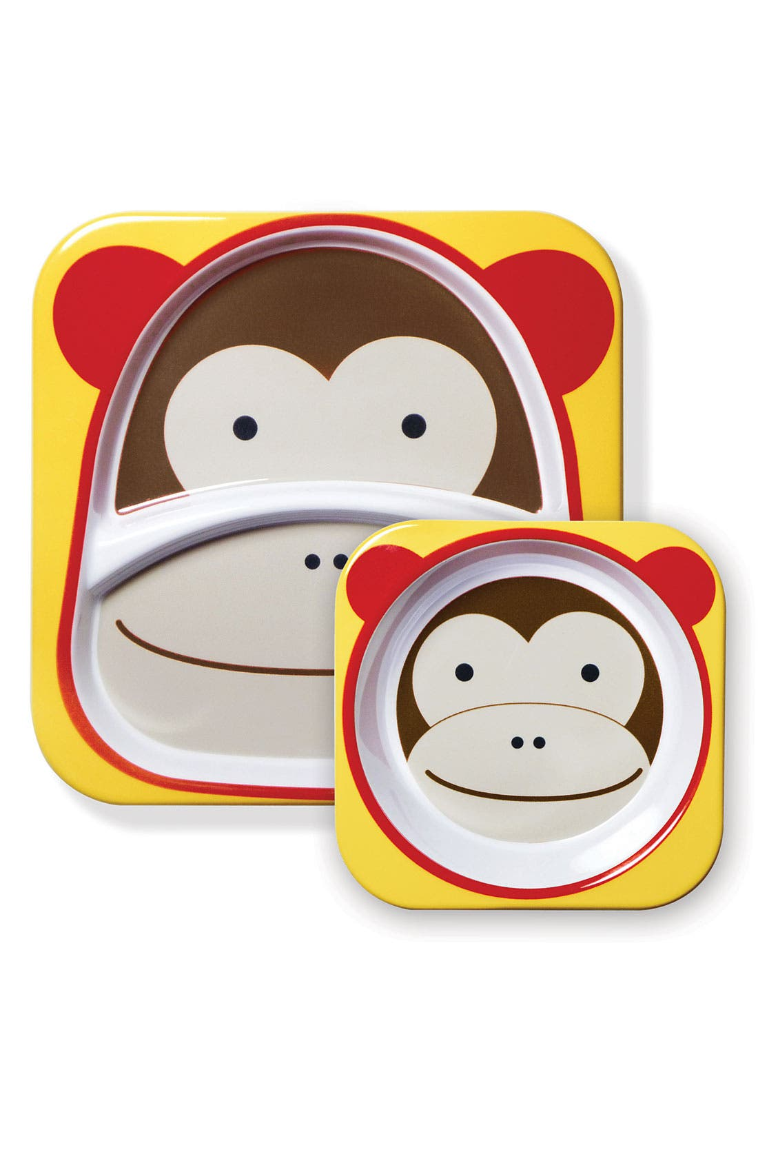 'Zoo' Meal Time Set,                         Main,                         color, Brown Multi