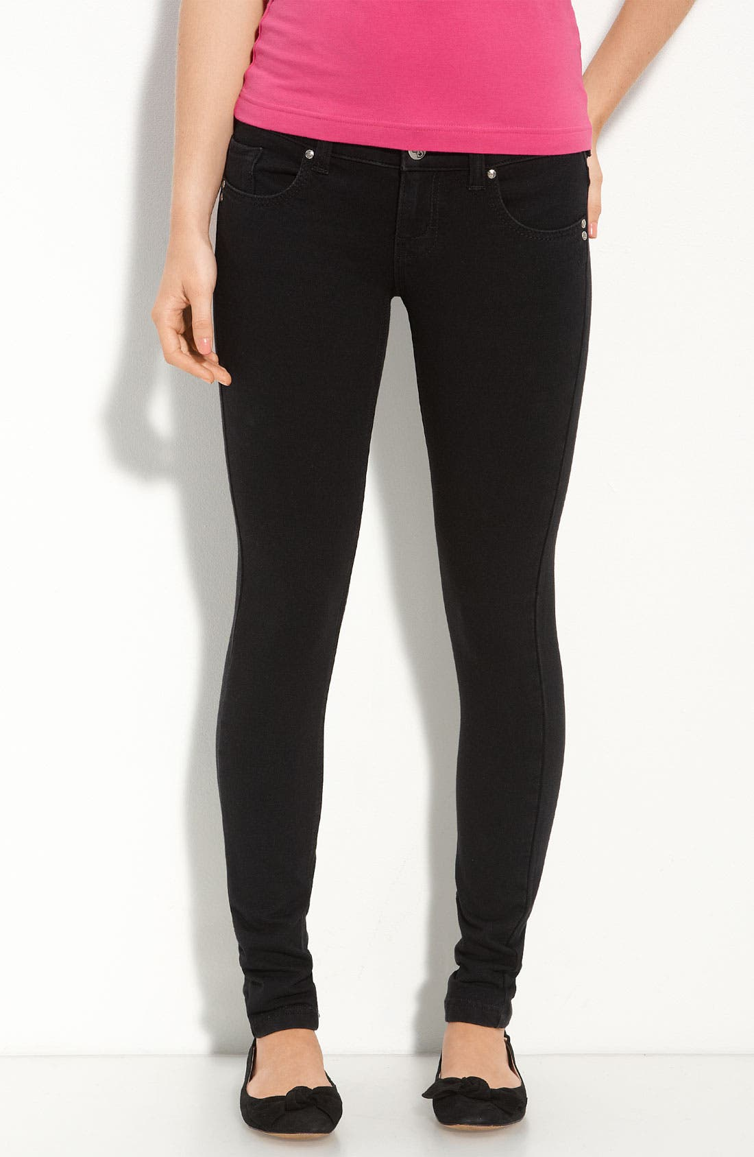 Alternate Image 1 Selected - STS Blue Ponte Knit Leggings (Juniors)
