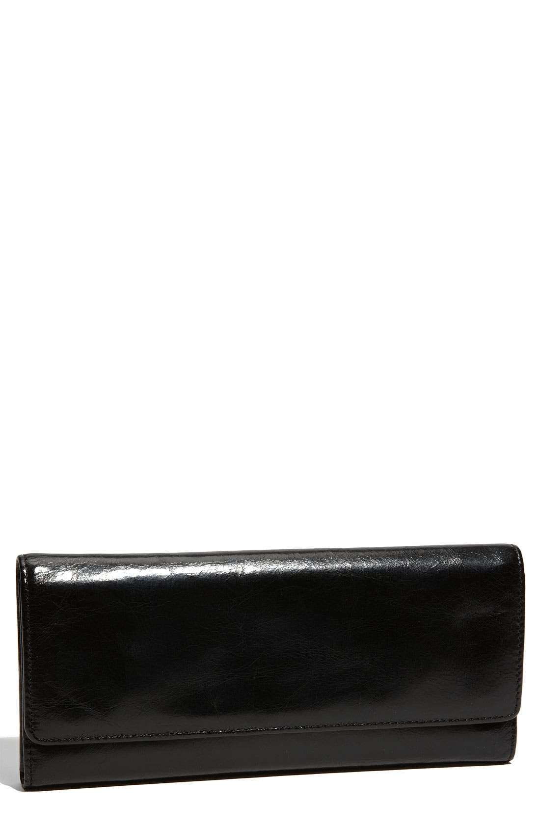 'Sadie' Leather Wallet,                             Main thumbnail 1, color,                             Black
